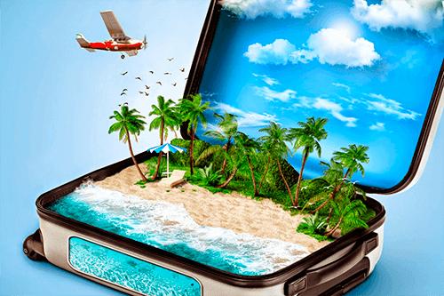 Лого для посадочной по разработке туристических сайтов