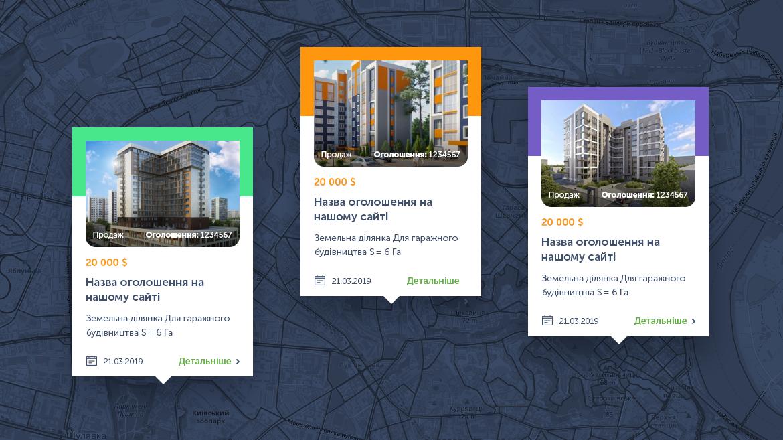 Карточки обектов недвижимости