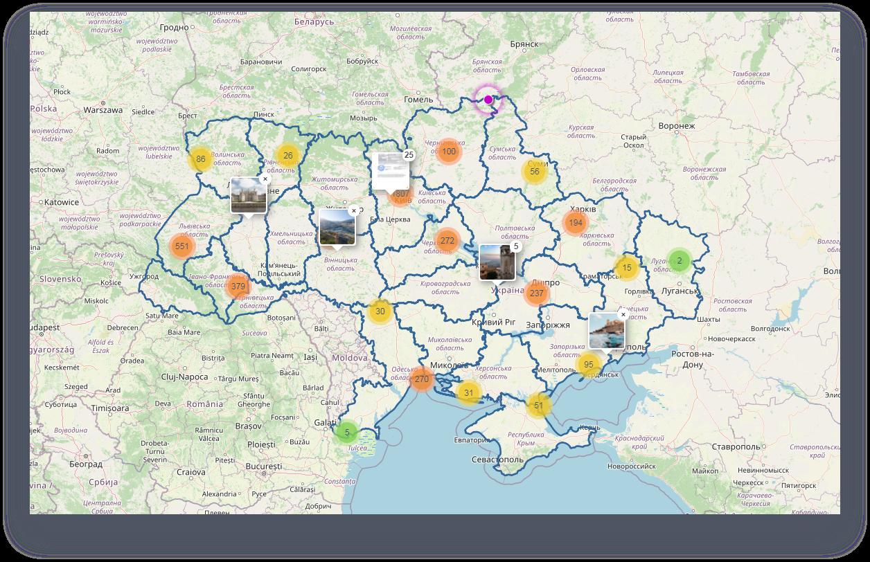 Функционал -отображение на карте все объектов доступных для покупки не только квартиры но и земельные участки